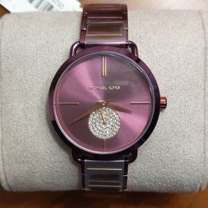 Purple Michael Kors MK3765 watch